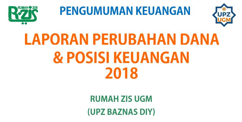 Laporan Perubahan Dana dan Posisi Keuangan R-ZIS UGM per Agustus 2018