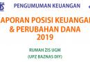 Laporan Keuangan UPZ UGM Januari-April 2019