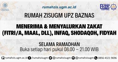 Rumah ZIS UGM UPZ BAZNAS Menerima dan Menyalurkan Zakat, Indaq, Shodaqoh, Fidyah