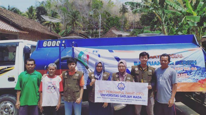 Penyaluran Donasi Air Bersih untuk Warga Terdampak Kekeringan DI Yogyakarta